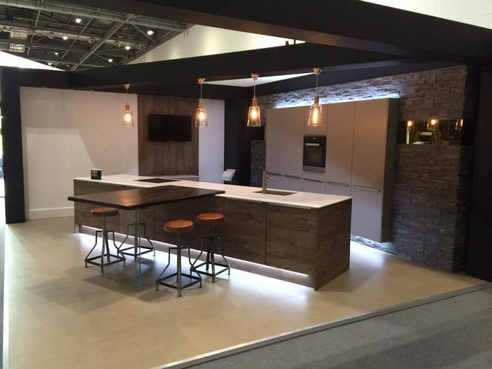 KItchen Design With Charcoal Stone Cladding