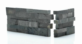 Charcoal Stone Cladding Sample